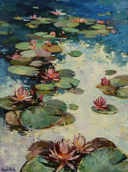 Anastasiya Valiulina-Water lilies