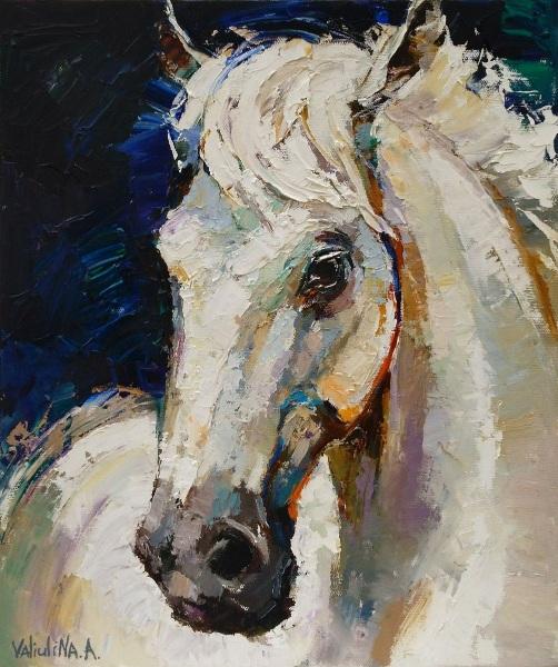 Anastasiya Valiulina-White horse