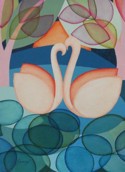 Brenda Szuromi-Little Swans II