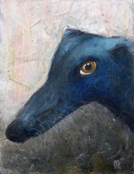 EVA FIALKA-BLUE DOG