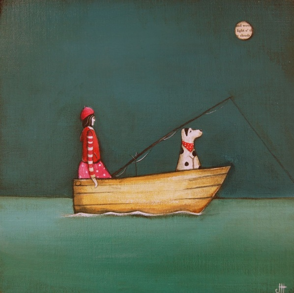 Jackie Henderson-Night Fishing with Molly