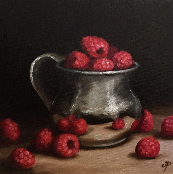 Jane Palmer-Silver cup with Raspberries