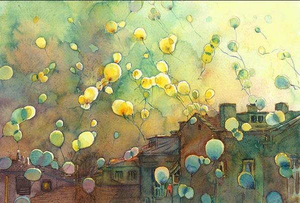 Kalina Toneva-Balloons Green