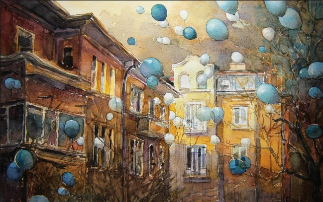 Kalina Toneva-Balloons blue