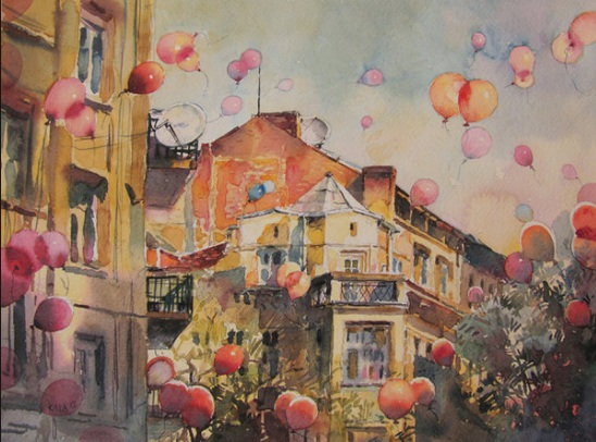 Kalina Toneva-Balloons red
