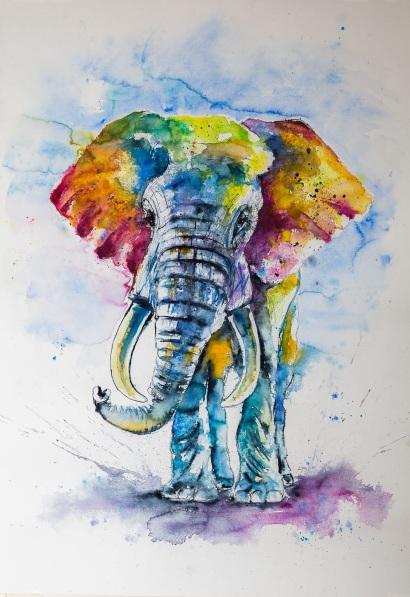Kovács Anna Brigitta-Big colorful elephant