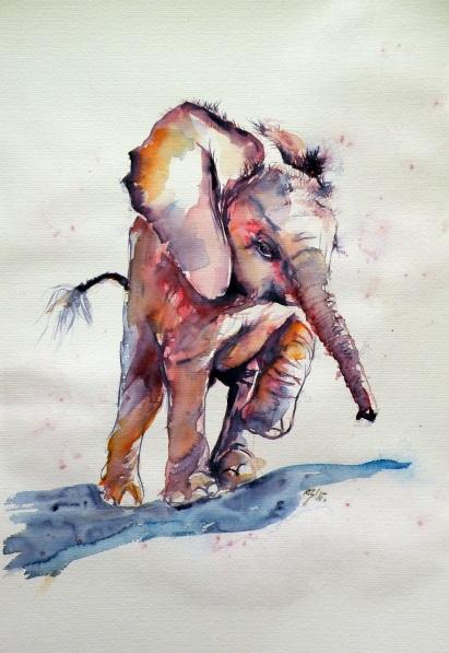 Kovács Anna Brigitta-Running elephant baby