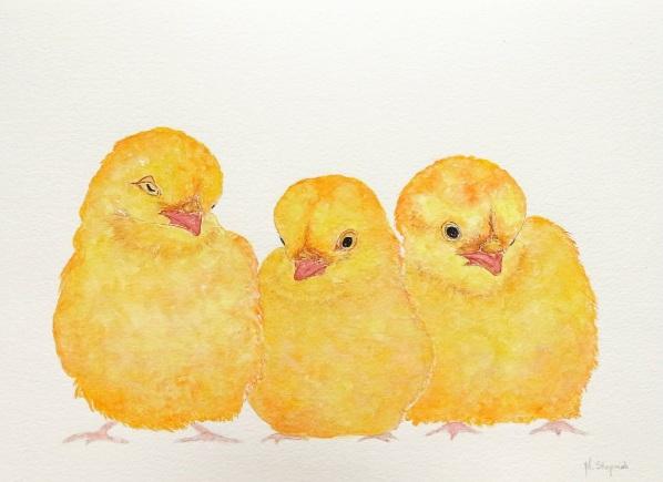 Malgorzata Stepniak-Three chickens