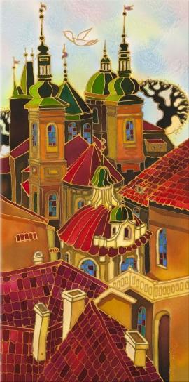 Yelena Sidorova-Red Roofs. Prague