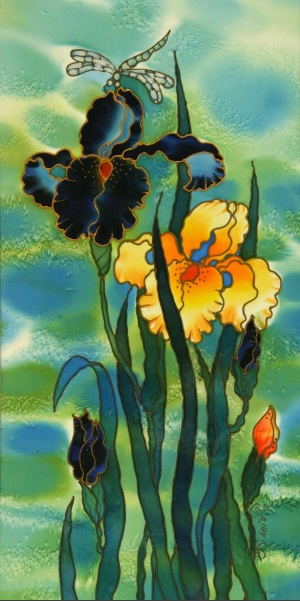 Yelena Sidorova-Two Irises