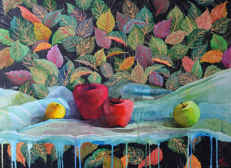 Zhanna Kondratenko-Still life with apples