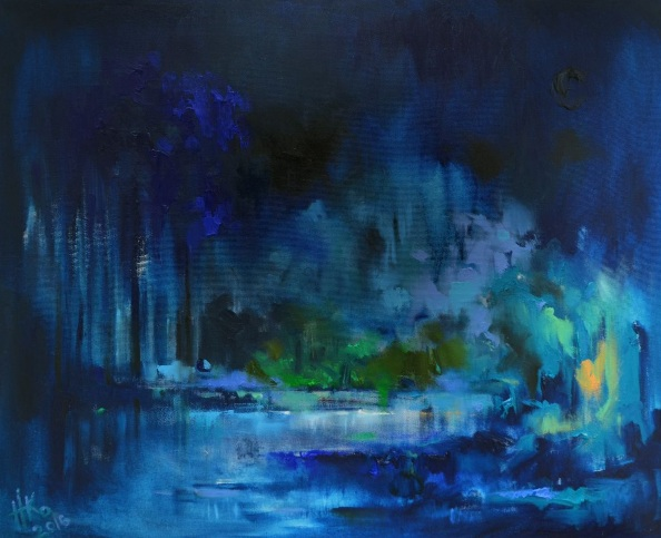 Zhanna Kondratenko-The blue night's splendor