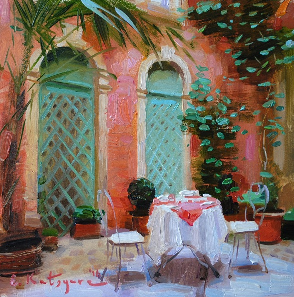 ELENA KATSYURA - THE COURTYARD OF ARCHING WINDOWS