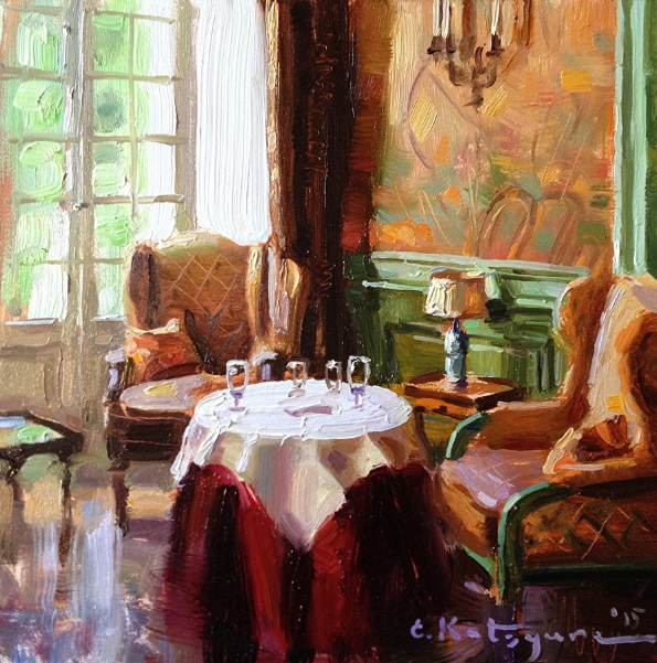 ELENA KATSYURA - THE RED VELVET TABLECLOTH