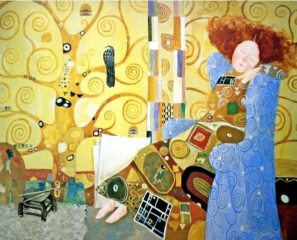 Eugenia Gapchinska-Lisa and she's dreams. Gustav Klimt