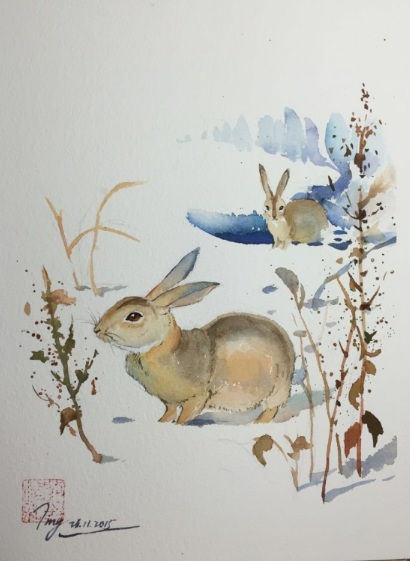 Jing Chen-Snow and Rabbits