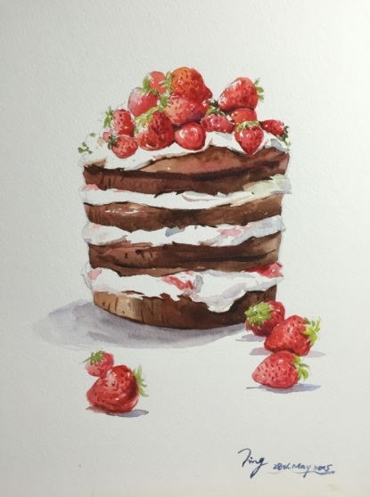 Jing Chen-Strawberry Cake