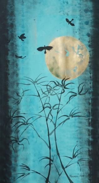 Ksavera-Blue turquoise teal black gold