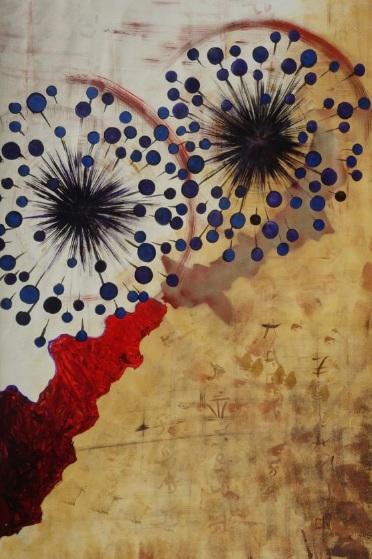 Ksavera-Red and beige art