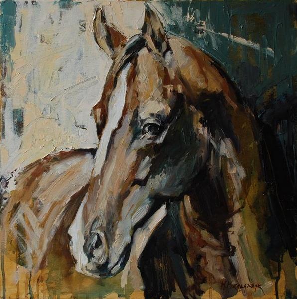 Marcin Mikołajczak-Horse piortrait