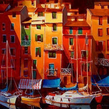 Michael O'Toole - Sunset on Portovenere
