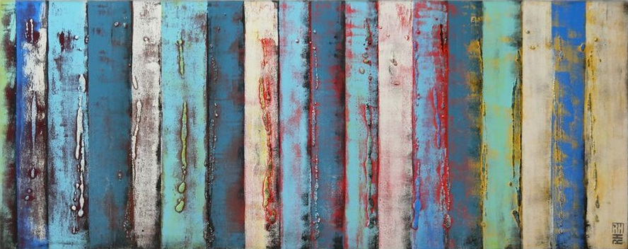 Ronald Hunter - Colorful Abstract Panels - 400