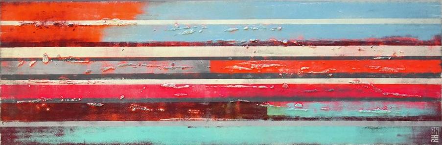 Ronald Hunter - Pop Art Color striped landscape