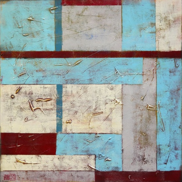 Ronald Hunter - Square red blue city blocks