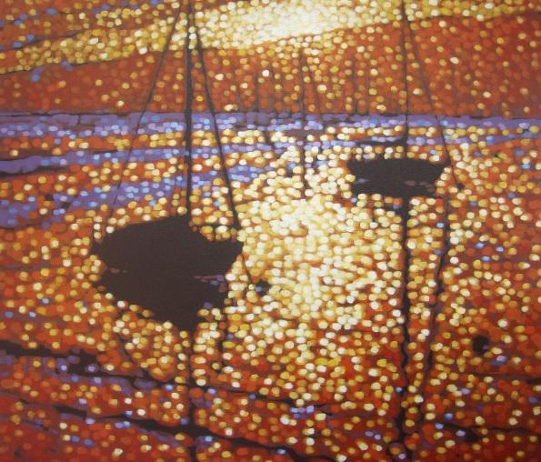 Gordon Hunt - Sunset moorings