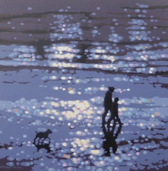 Gordon Hunt - Winter afternoon beach walk