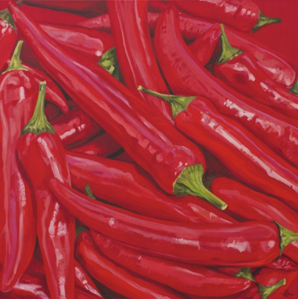Hannah Bruce - Chillies in Deep Red II