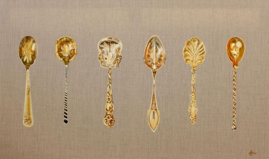 Hannah Bruce - Six Golden Teaspoons