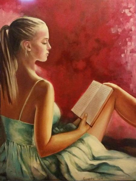 Reneta Isin - Girl with book