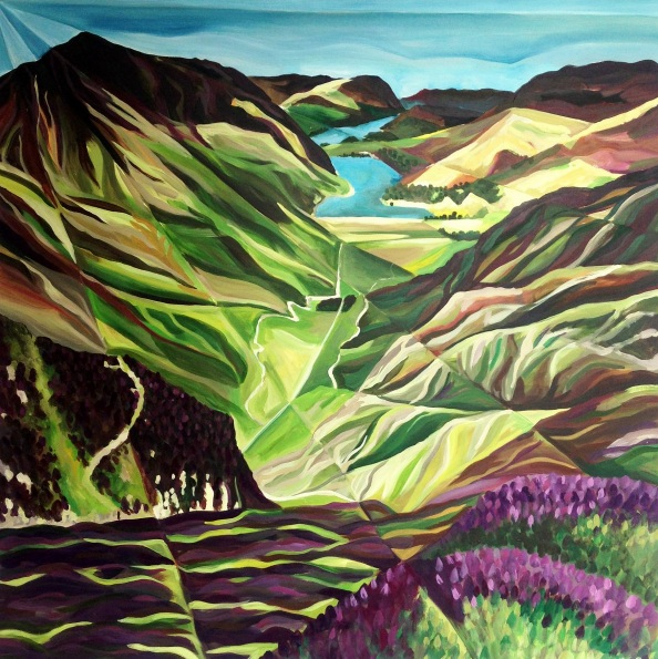 Tiffany Budd - The Haystacks in colour