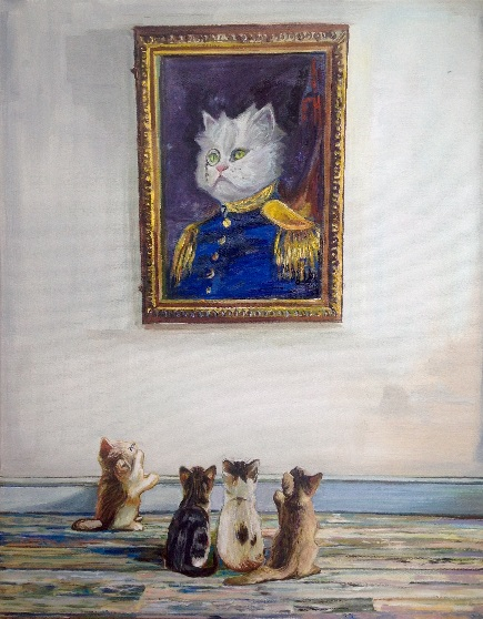Timothy Adam Matthews - Portrait of Admiral Kitty