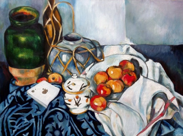 H Y- Cezanne's Apple