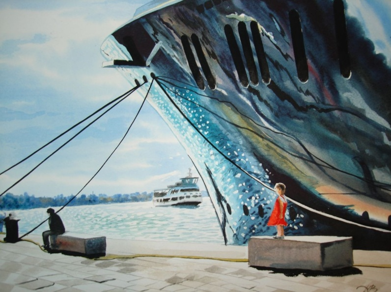Igor Dubovoy - girl and ship