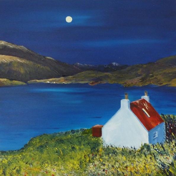Margaret Denholm - Moonlight on Loch Torridon