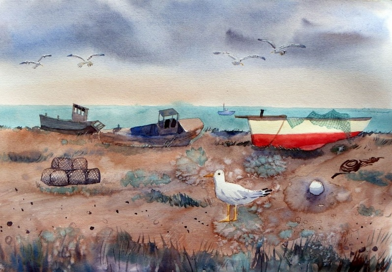 Mary Stubberfield - Fishing boats at Dungeness