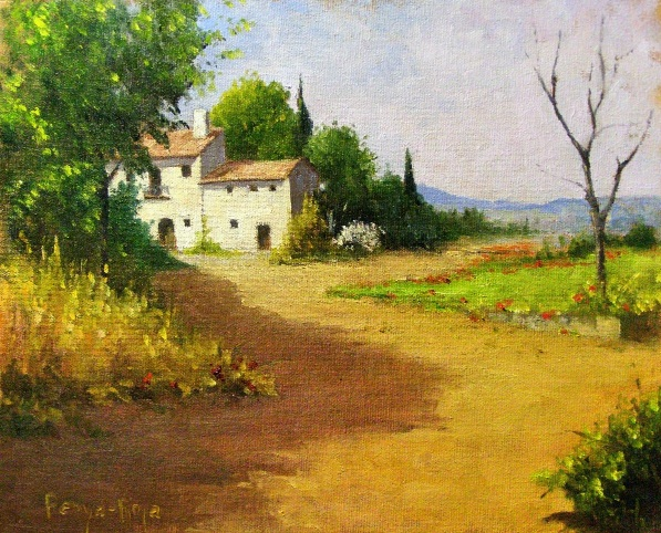 Penya-Roja - LANDSCAPE WITH COUNTRY HOUSE