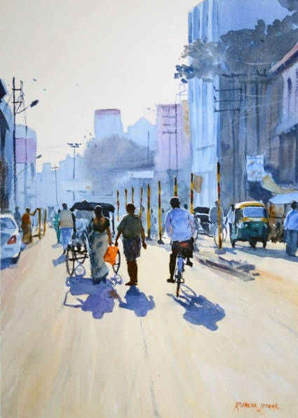 Ramesh Jhawar - A Moody Morning, Varanasi