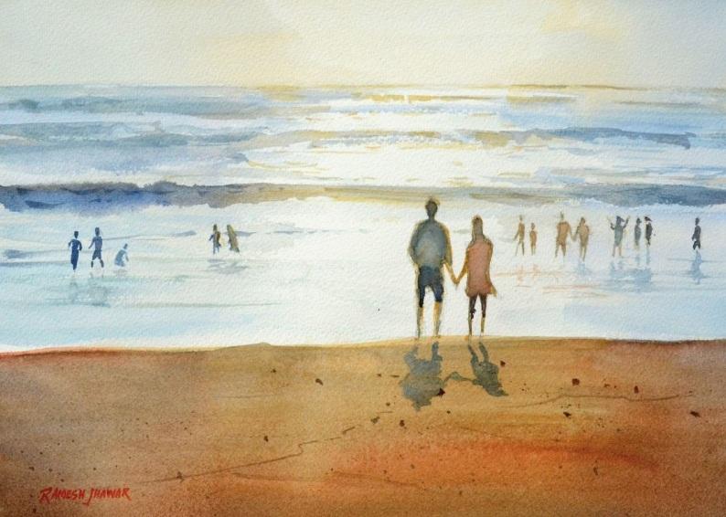 Ramesh Jhawar - Romance on beach