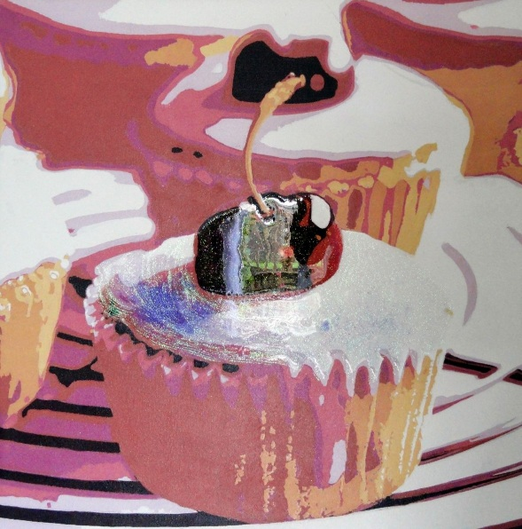 Sue Rowe - Two Cherry Cup Cake