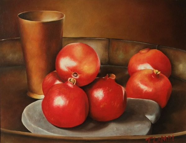 Trisha Lambi - Still Life With Pomegranates