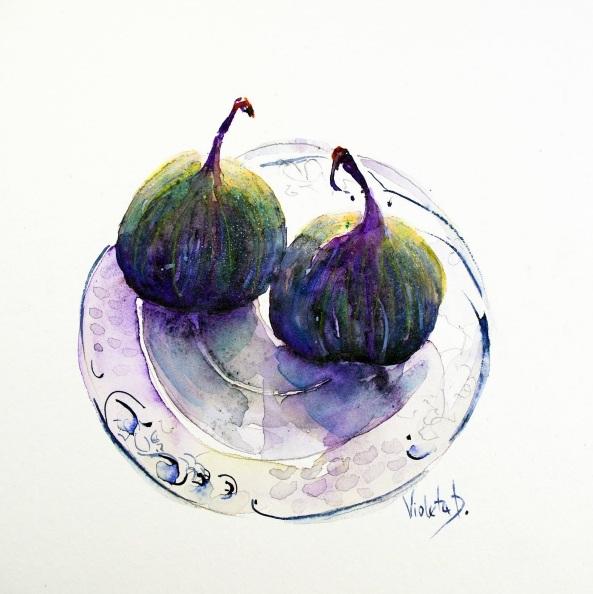 Violeta Damjanovic-Behrendt - Figs on a Villeroy and Boch Cake Plate