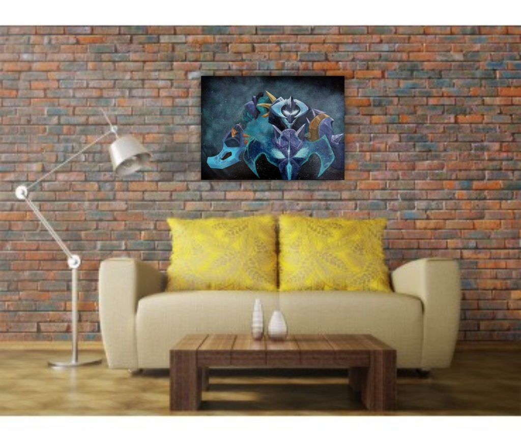 wombart-dota2-chaos-knight-in-a-home-interior-art-artwork-painting-устименко-картина-дота2