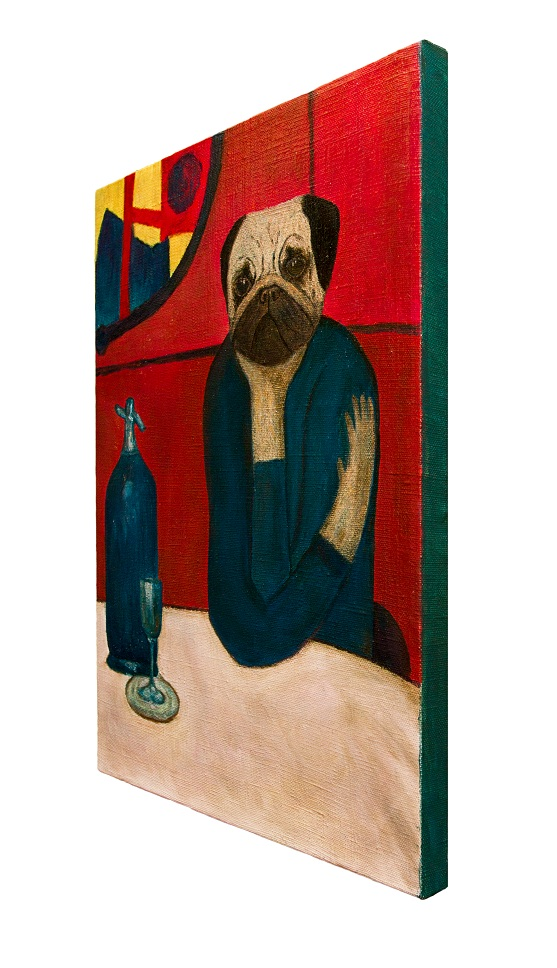 wombart-pugasso-absinth-lover-side-view-pug-portrait-painting-artwork-устименко-мопс-портрет-картина