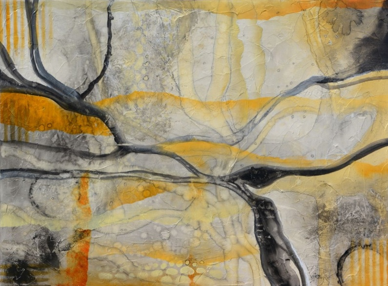 andrada-anghel-enchanted-forest-black-and-yellow-abstract-painting-on-wood