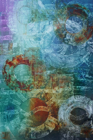 andrada-anghel-visions-of-earth-series-oriental-antiquities-xvi-blue-abstract-painting-geometrical