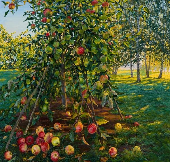 elena-barkhatkova-morning-red-apples